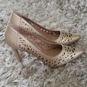 BCBGeneration Pale Gold Heels